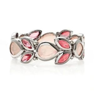 WHBM Pink Mixed Stone Stretch Bracelet